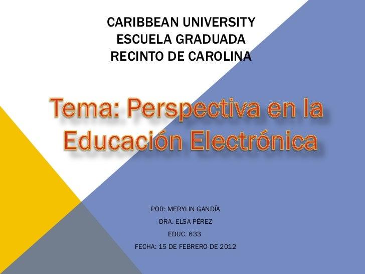 Present educ 633