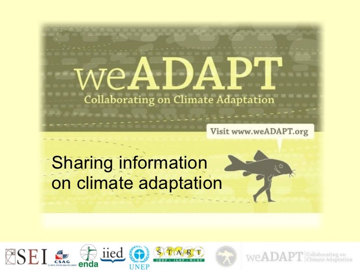Sharing information  on climate adaptation