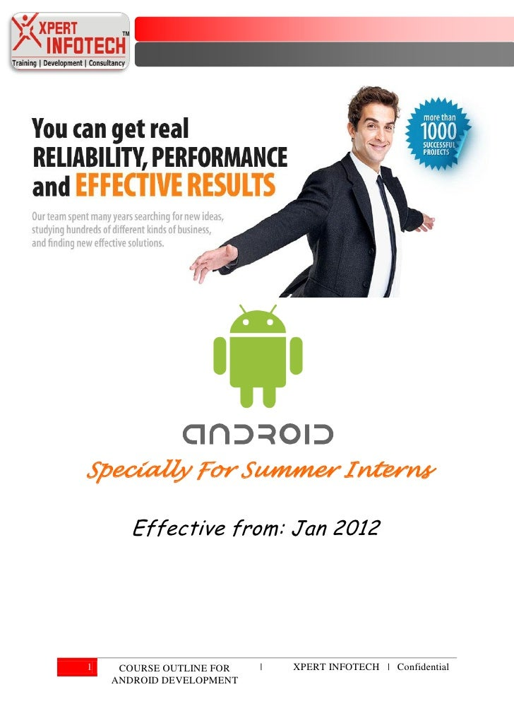 Presenter manual   android development (specially for summer interns)