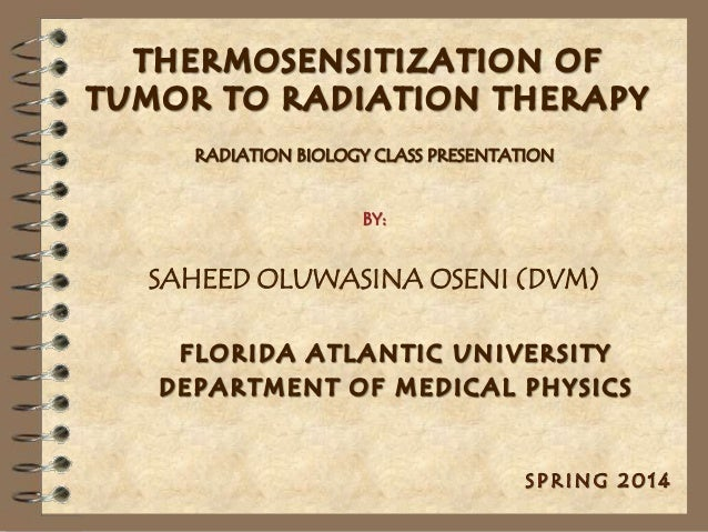 THERMOSENSITIZATION OF TUMOR TO RADIATION THERAPY