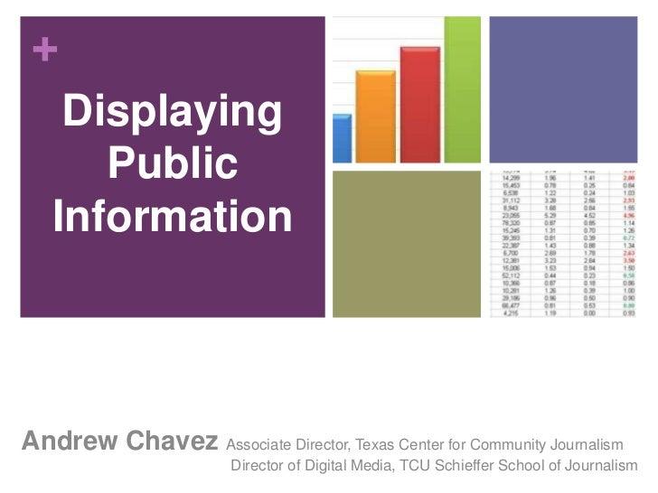 Presenting public information online
