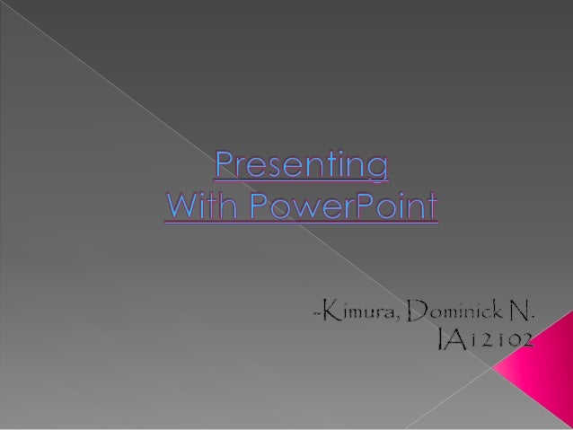    Slide presentation software such as    PowerPoint has become an ingrained    part of many instructional    settings, p...