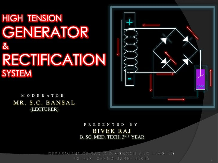 """high tension generator"",  ""high tension"",""tension generator"",  ""generator"", &  ""rectification system"" ""generator and rectification"",  ""HIGH TENSION GENERATOR & RECTIFICATION SYSTEM"""