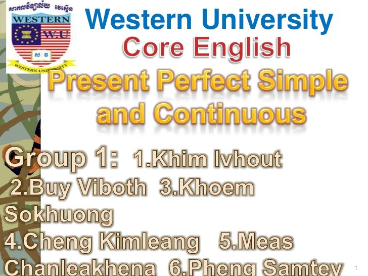 Present perfect simple & continuous