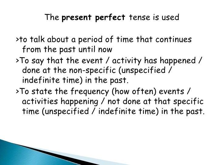 Present Perfect Formula Formula For Persent Perfect