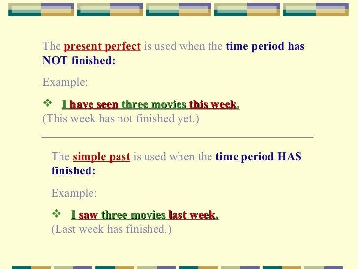 present perfect texts
