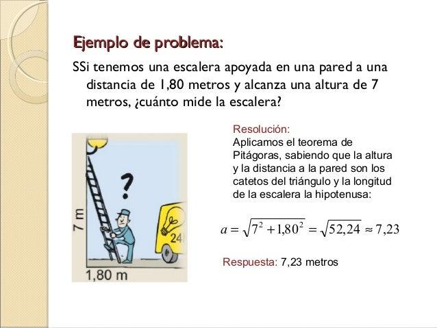 Teorema de pit goras for Formula escalera