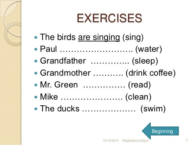 math worksheet : simple present tense and present progressive tense ...