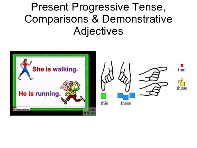 Present Progressive Tense, Comparisons & Demonstrative Adjectives