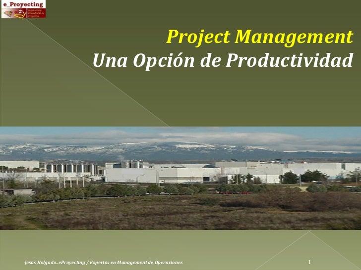 Project Management                            Una Opción de ProductividadJesús Holgado..eProyecting / Expertos en Manageme...