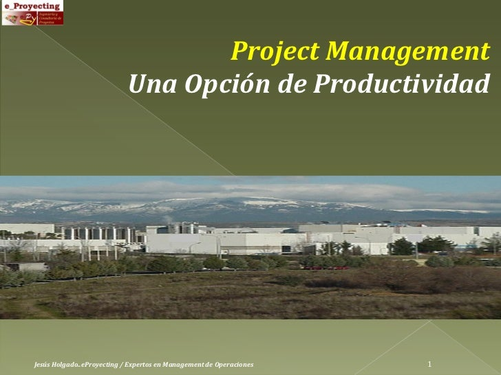 Project Management: a choice of Productivity