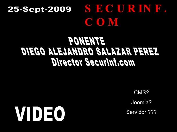 Presentacion Joomla CMS