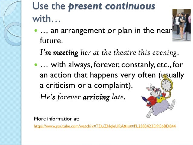 Use present continuous