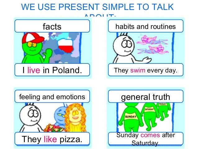 Imagenes de Presente Simple Present Simple