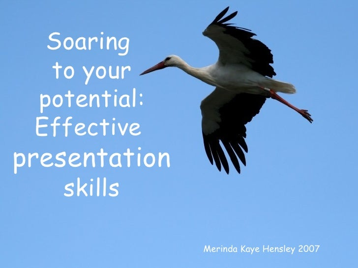 Merinda Kaye Hensley 2007 Soaring  to your potential: Effective  presentation skills