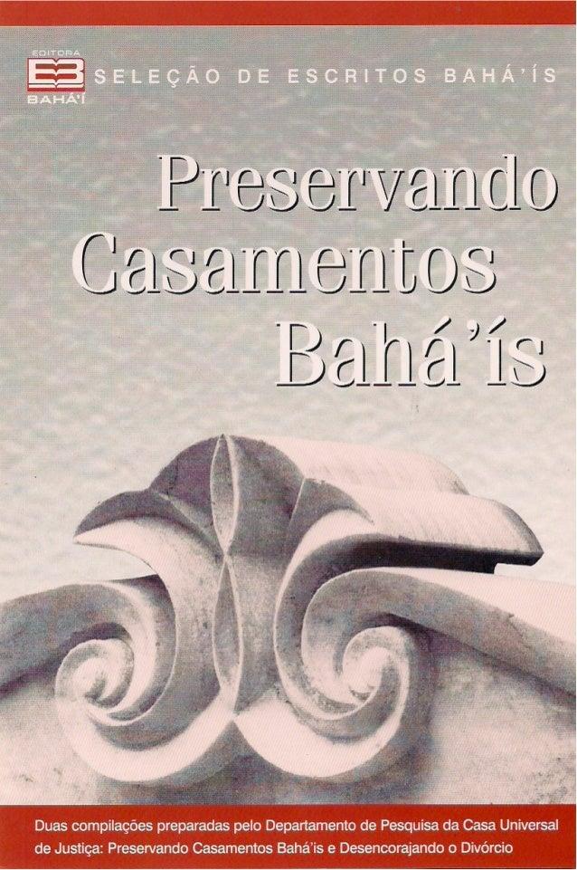 PRESERVANDO CASAMENTOS BAHÁ'ÍS