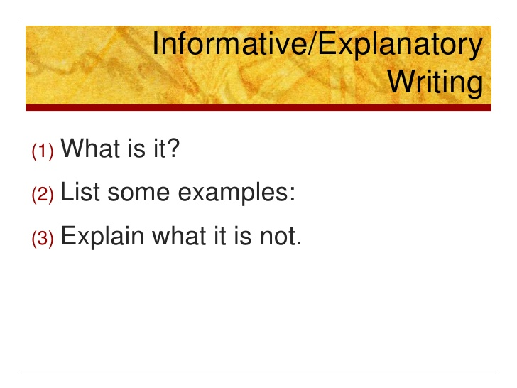 essay informative write