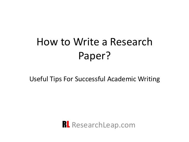 How to write up a research project