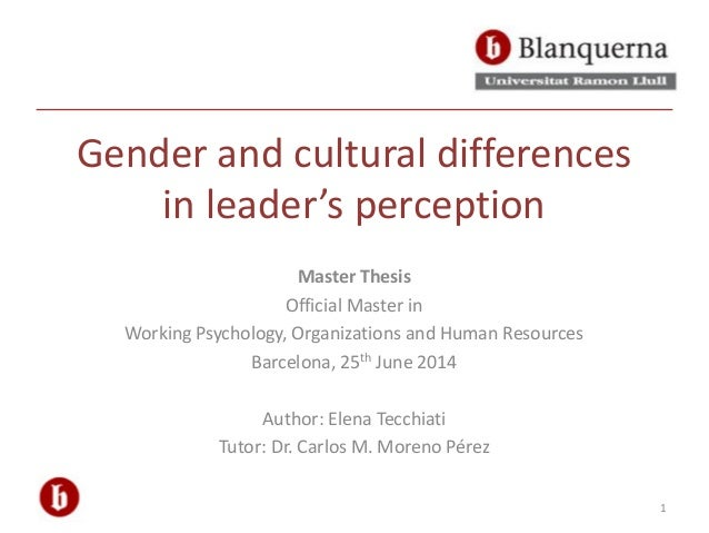 gender differences in self-perception essay An essay or paper on social interactions and behaviors  of others as well as our own self- perception,  as well as cultural or gender differences.