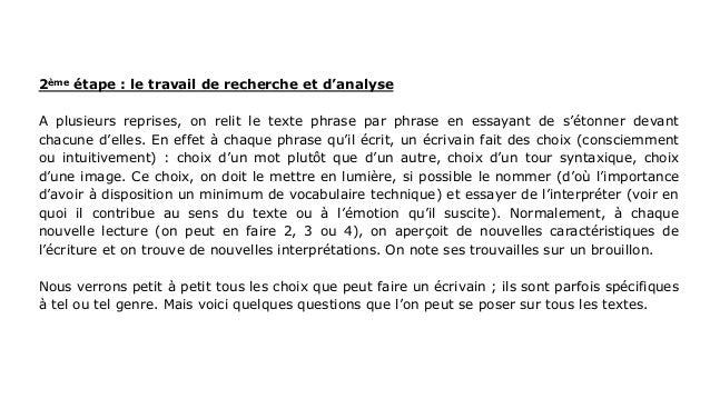 pres fiche m u00e9thode lecture analytique