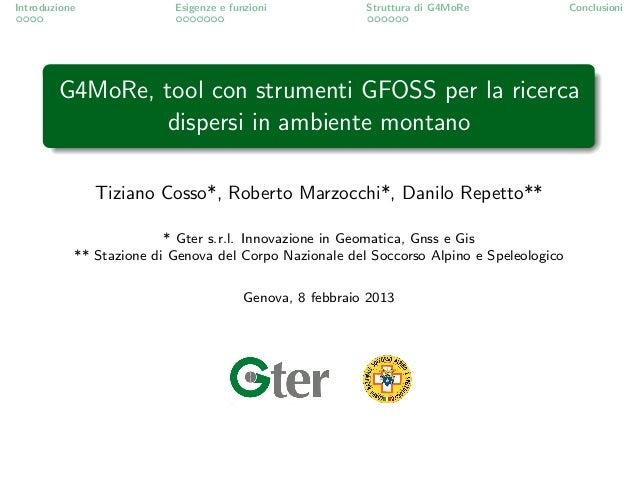 G4MoRe - foss4git