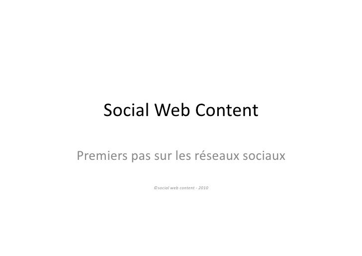 Social Web Content