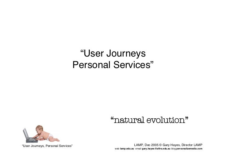 """""""User Journeys                                  Personal Services""""                                              """"natural e..."""