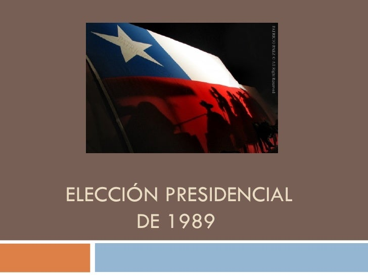 ELECCIÓN PRESIDENCIAL DE 1989