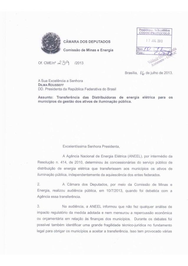 Pedido de Eduardo da Fonte para presidente Dilma Rousseff