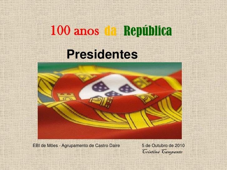 Presidentes da republica
