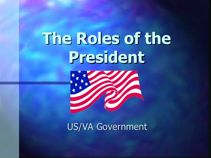 The Roles of the President US/VA Government