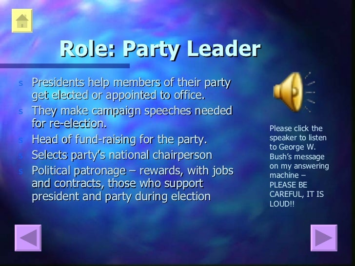 presidents duties Lesson plan: what is a president  start a list of presidential duties, characteristics and qualities and continue to add to it throughout the lesson.