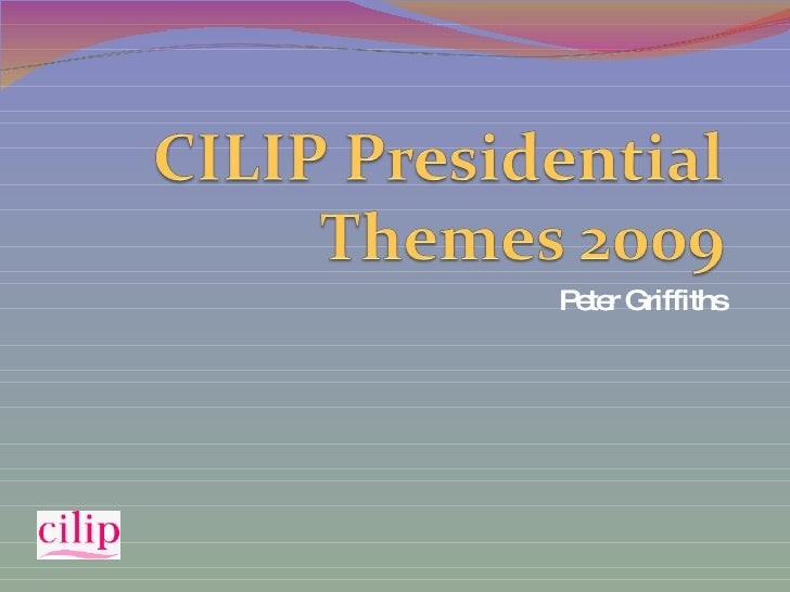 CILIP Presidential Themes 2009