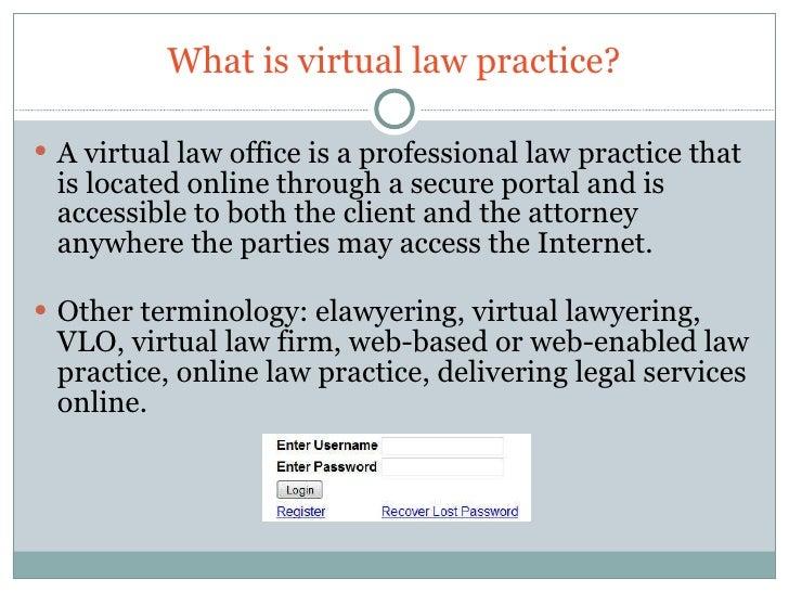 Cloud Computing & Virtual Law Practice Summary