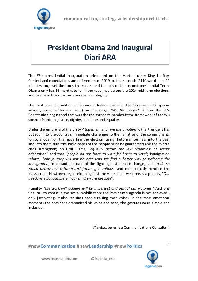 President Obama 2nd inaugural - Diari Ara