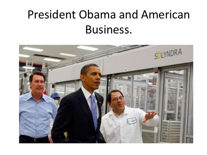 President Obama and American           Business.