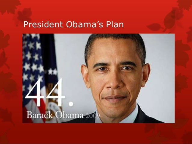 President obama's plan