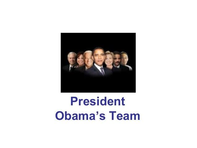 President Obama's Team