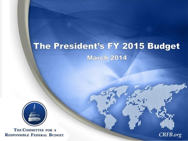 President's FY 2015 Budget Chartbook