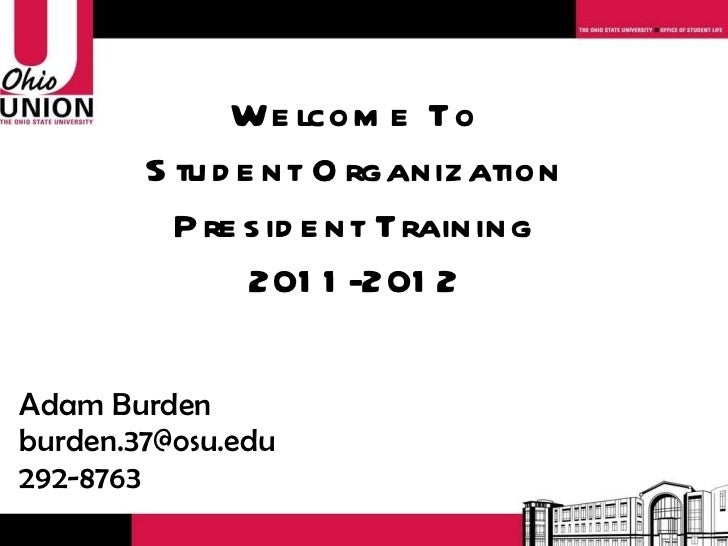 Student Organization President Training 2011-12