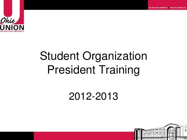 Student Organization President Training     2012-2013