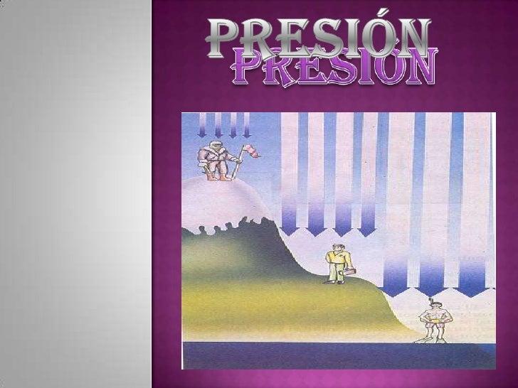  ¿Qué  es presión? Presión Atmosférica Formula para calcular la presión Factores de conversión Presión en fluidos Pr...