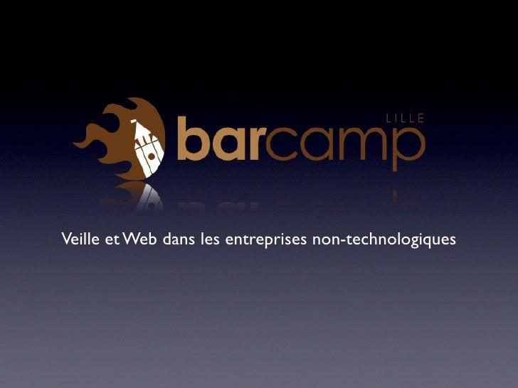 Veille et Web dans les entreprises non-technologiques