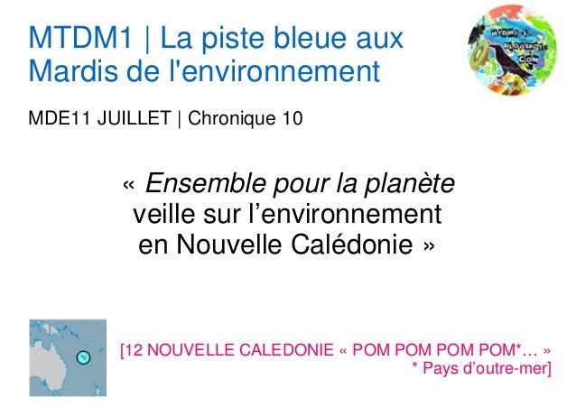 MTDM1 | La piste bleue aux Mardis de l'environnement MDE11 JUILLET | Chronique 10 « Ensemble pour la planète veille sur l'...