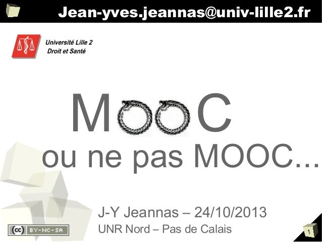 Presentation MOOC - Séminaire UNR Nord - Pas de Calais