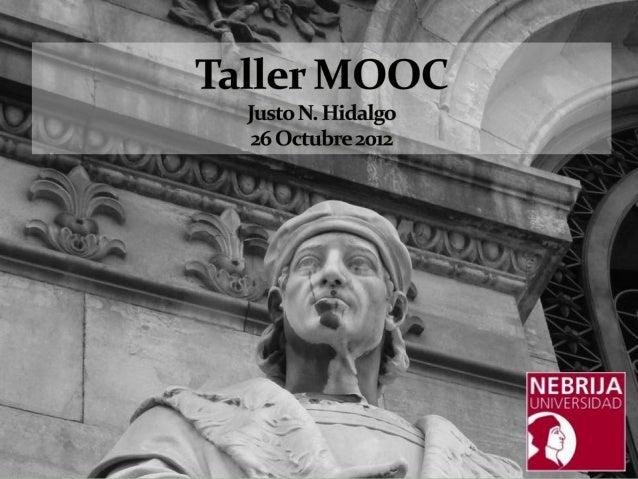 Taller Nebrija sobre cursos MOOC
