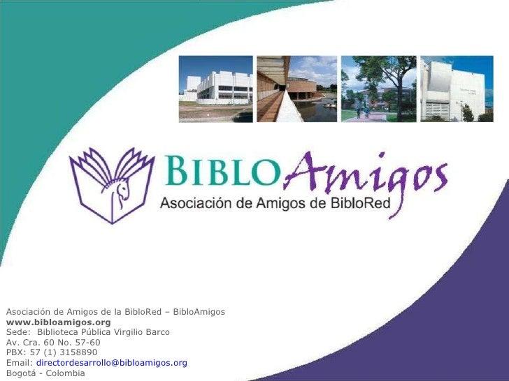 Presentación Institucional BibloAmigos