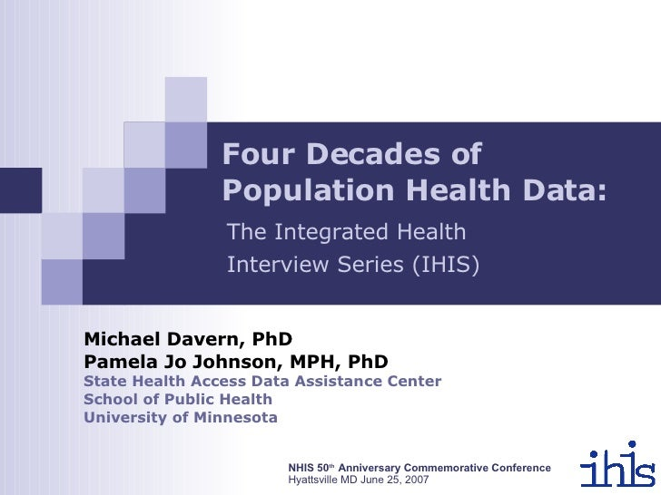 Four Decades of Population Health: The Integrated Health Interview Series