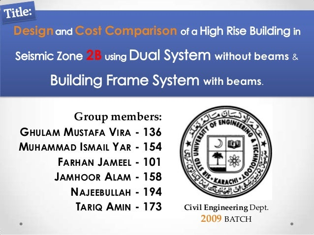 Design   Cost Comparison           2B                       without beams &                                 with beams.   ...