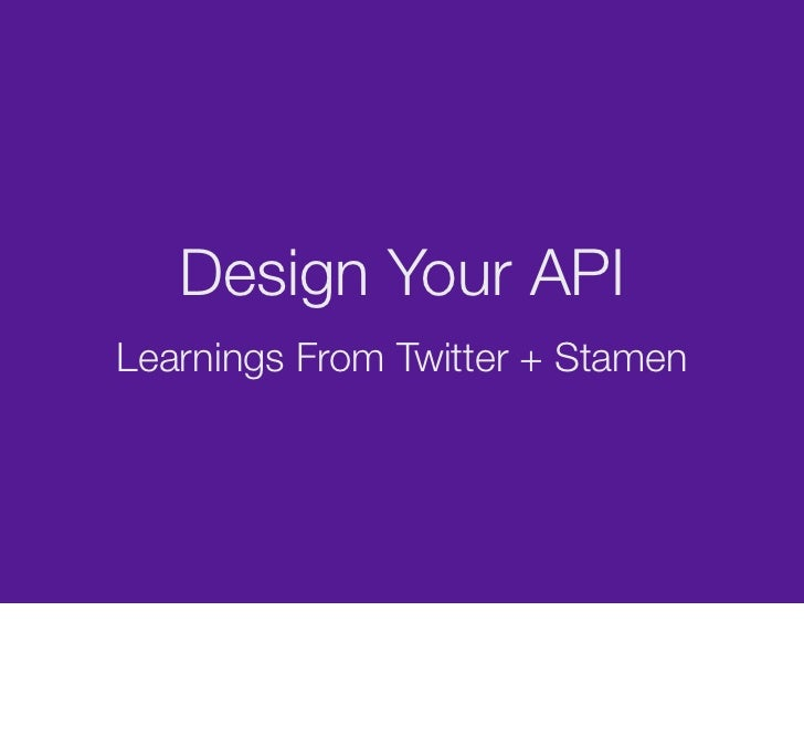 Designing Your API